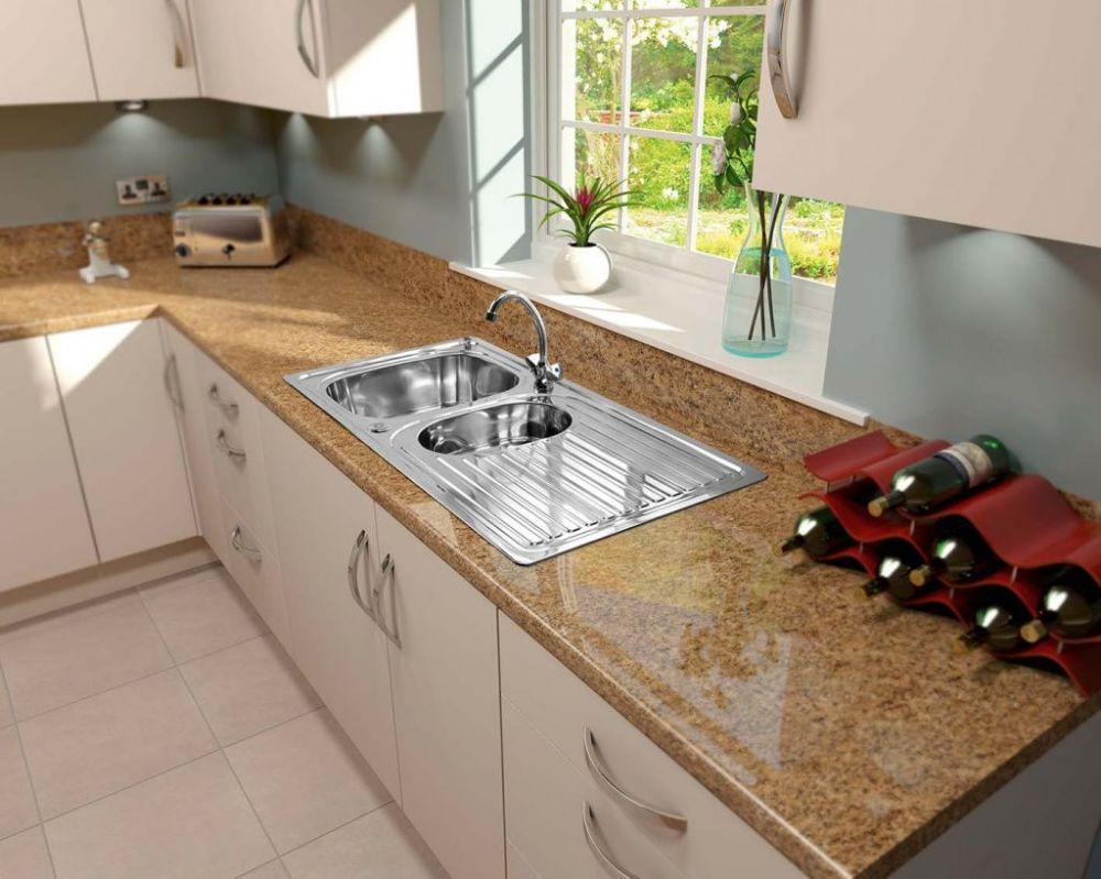 Supaplumb Reversible 1 5 Bowl Sink With Monoblock Tap